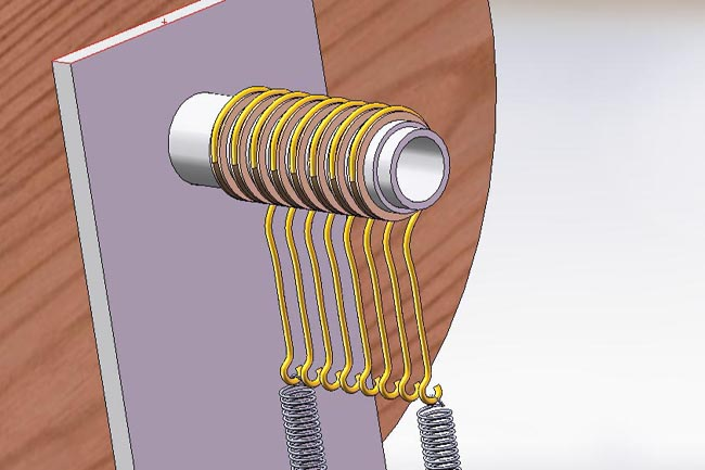The actual Slip Ring will consist of 8 Brass Contact Rings, some Spacers, and 8 Copper Contact Hooks.